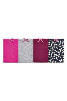 Next Heart Print Cotton Shorts Four Pack