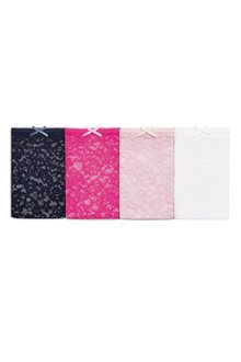 Next Lace Bikini Briefs Four Pack