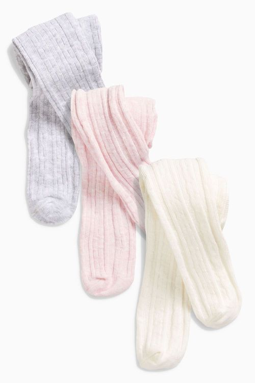 Next Cable Tights Three Pack (0mths-2yrs)