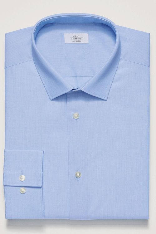 Next Cotton Shirt - Slim Fit Single Cuff