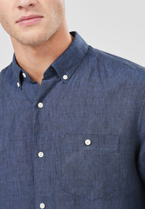 Next Long Sleeve Pure Linen Shirt