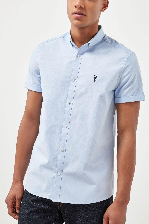 84d32218 Next Short Sleeve Stretch Oxford Shirt Online | Shop EziBuy