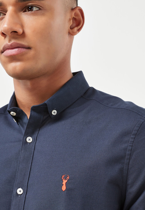 Next Short Sleeve Stretch Oxford Shirt