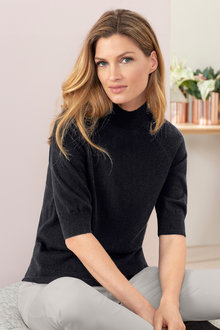 Grace Hill Short Sleeve Jumper