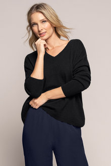 Grace Hill Long Sleeve Scoop Hem Jumper