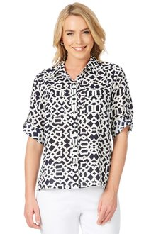 Noni B Printed Lottie Shirt - 197756