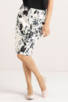 Capture Stretch Cotton Sateen Skirt
