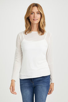 Capture Long Sleeve Layering Top - 197792