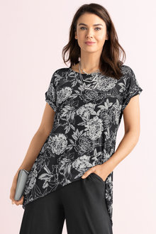 Capture Mesh Split Back Tunic