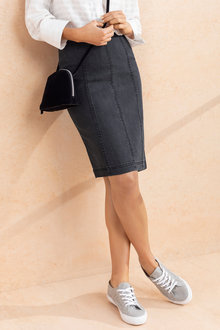 Capture Panelled Denim Skirt - 197803