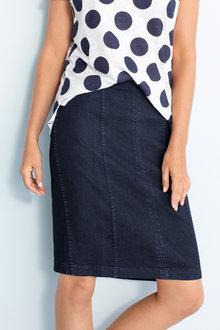Capture Panelled Denim Skirt