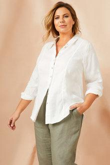Sara Longline Linen Shirt - 197804