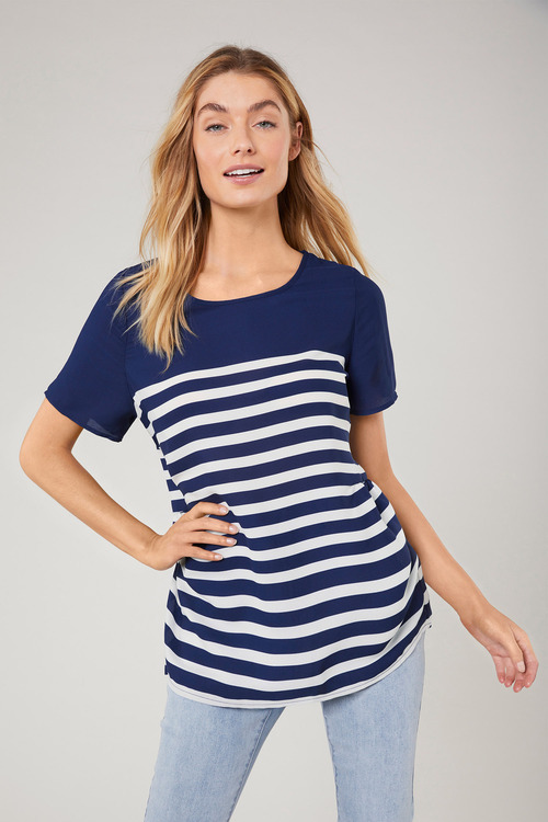 Capture Gather Shell Top
