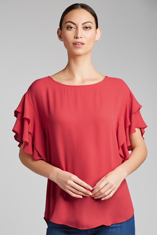 Capture Ruffle Sleeve Top