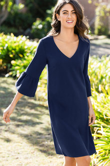 Capture V Neck Dress