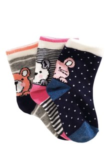 Next Character Socks Three Pack (Younger Girls)