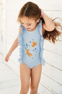 Next Fish Embroidery Swimsuit (3mths-6yrs)