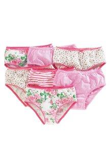 Next Pink Floral Briefs Seven Pack (1.5-16yrs)