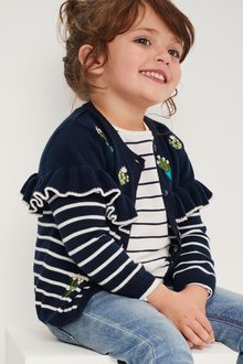 Next Cactus Embroidered Frill Cardigan (3mths-6yrs)