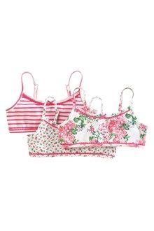 Next Floral Crop Tops Three Pack (Older Girls)