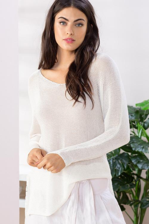 Grace Hill Linen Blend Sweater