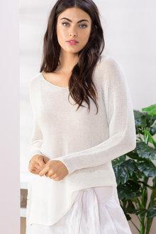 Grace Hill Linen Blend Sweater - 198064