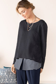 Grace Hill Shirt Tail Knit