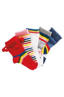 Next Rainbow Socks Five Pack (Younger Girls)