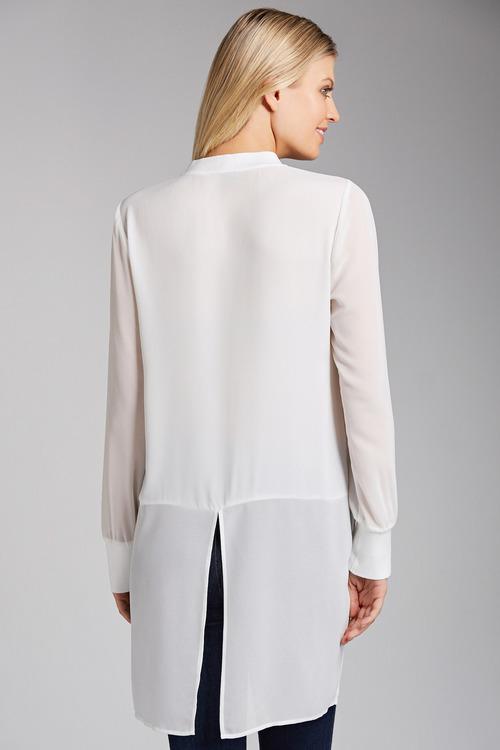 Grace Hill Chiffon Detail Shirt