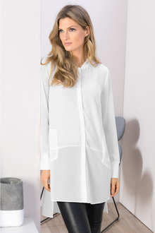 Grace Hill Chiffon Detail Shirt