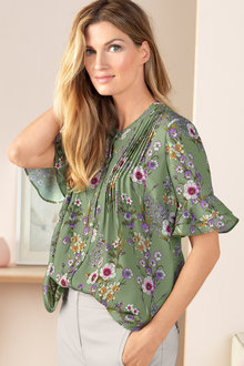 Grace Hill Pintuck Blouse