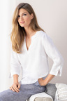 Grace Hill Embellished Linen Tunic