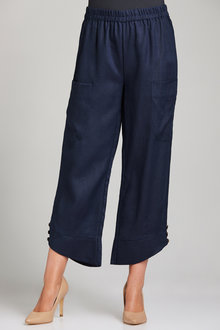 Grace Hill Linen Pocket Pant - 198096