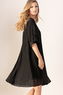 Grace Hill Flutter Sleeve Swing Dress - 198099