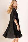 Grace Hill Flutter Sleeve Swing Dress