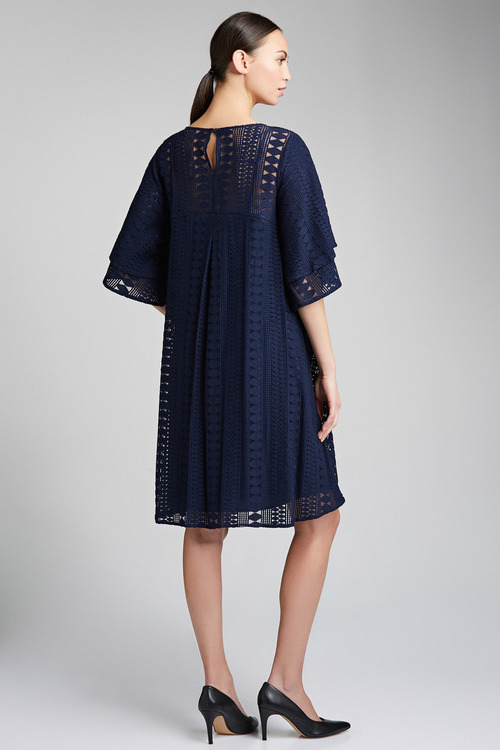 Grace Hill Flutter Sleeve Swing Dress