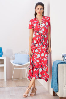 Grace Hill Knit Fit & Flare Dress