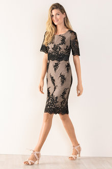 Grace Hill Layered Lace Dress - 198107