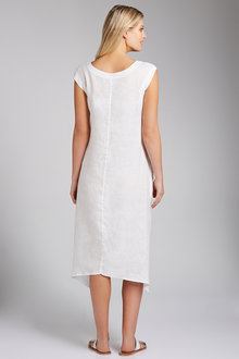 Grace Hill Embroidered Linen Dress - 198110