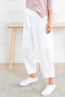 Grace Hill Cuff Detail Linen Pants