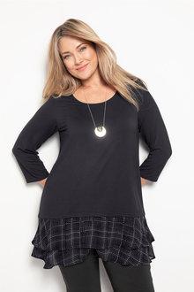 Plus Size - Sara Frill Hem Tunic