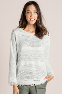 Emerge Pointelle Knit Sweater