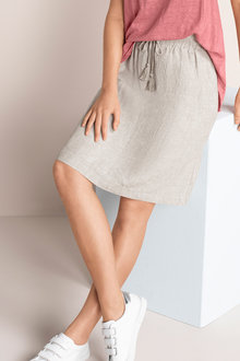Emerge Linen Pull On Skirt