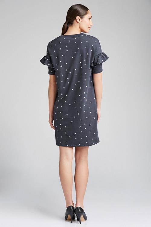 Emerge Ruffle Sleeve Sweater Dress