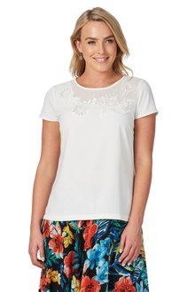 Noni B Embroidered Irena Top