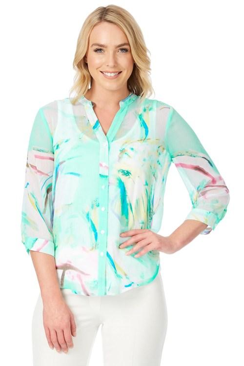 Noni B Roxie Printed Shirt