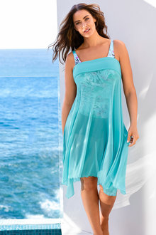 Plus Size - Sara Multiway Mesh Cover Up - 198190