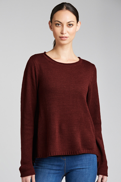 Emerge Curved Hem Swing Knit