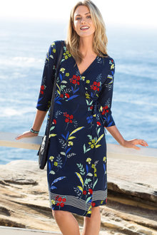 Capture Wrap Dress - 198241