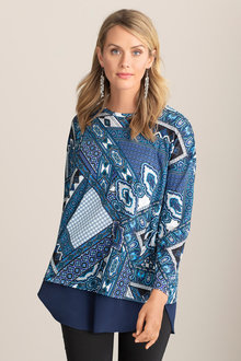 Capture Printed Tunic with Chiffon